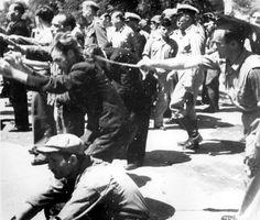 From Yad Vashem.  Round-up of Jews of Thessaloniki.