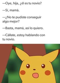 Mis suegritas siempre Pokemon, Pikachu, Bad Memes, Spanish Memes, Funny Posts, Funny Images, Bff, Funny Quotes, Nerd