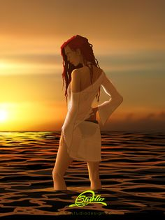 Ocean sunset girl Sunset Girl, Ocean Sunset, Paz Interior, My Escape, Disney Characters, Fictional Characters, Disney Princess, Artwork, Work Of Art