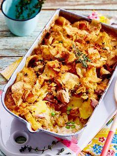 Unser neuer Lieblings-Auflauf mit Kartoffeln, Thunfisch und Erbsen musst du probieren!