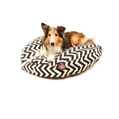 @Overstock - Durable and plush, your pet will love this round pet bed from Majestic Pet. A removable slipcover and stylish zig-zag pattern highlight this comfortable pet bed.   http://www.overstock.com/Pet-Supplies/Majestic-Pet-Chocolate-Zig-zag-Round-Pet-Bed/7518659/product.html?CID=214117 $53.99