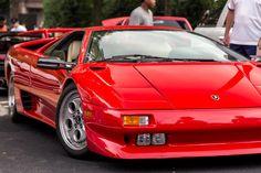 A beautiful classic Lamborghini Diablo at Caffeine and Octane. Lamborghini Diablo, Caffeine, Jeep, Bmw, Trucks, Fire, Sayings, Vehicles, Pictures