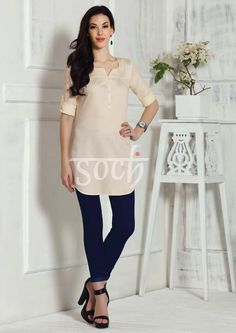 Look simply stunning in this off white tunic #SochStyle #TrendyTunics