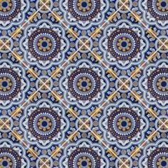 12½ x 12½ Royal Terra Nova Hand Painted Floor Tile