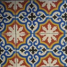Multicolor moroccan floor tile