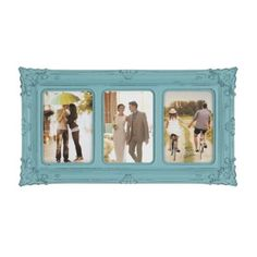 Turquoise Victorian 3-Opening Collage Frame | Kirklands