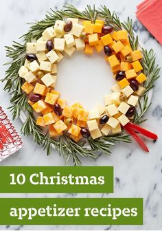 10 Christmas Appetizer Recipes — Planning your Christmas dinner menu? Start the festivities off deliciously with a great selection of tasty Christmas appetizers. They're all here—from the simple Bacon-Cheddar Onion Dip and Easy Cheese Wreath to the delicious Fig-Proscuitto Crostini and Cheesy Asiago-Herb Bread. You're sure to find the right holiday hors d'oeuvres for your get-together right here in this collection.