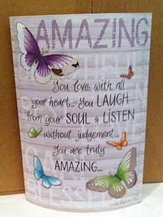 Amazing Paper Lantern LED Night Light Up LOVE SOUL butterflies - Lisa Pollock Led Night Light, Light Up, Lisa, Paper Lanterns, Decoration, Butterflies, Spiritual, Make It Yourself, Tableware