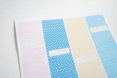 patterned labels by wildolive; insert long repeating images onto label template overlapping the edges to dress up labels. ***Do this for my recipe binder