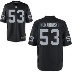Oakland Raiders Retired Player #53 Bill Romanowski Black NFL Elite Jersey