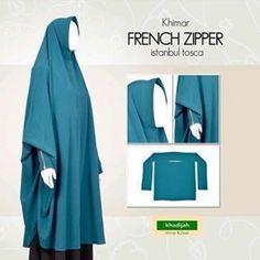 FRENCH ZIPPER Khimar Tosca Rp255.000 French Zipper dari Khadijah Indonesia…