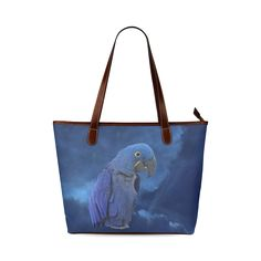 Hyacinth Macaw Shoulder Tote Bag. FREE Shipping. #artsadd #bags #parrots