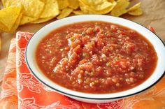 Super simple homemade salsa.  Way better than any store bought jar salsa.