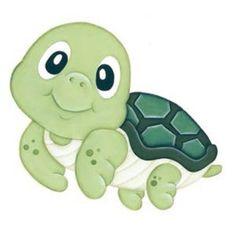 Cute Turtles, Baby Turtles, Cartoon Fish, Cute Cartoon, Cute Drawings, Animal Drawings, Cute Turtle Drawings, Baby Animals, Cute Animals