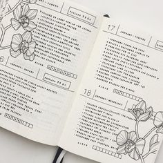 """1,195 Likes, 19 Comments - Federica (@feebujo) on Instagram: """"Zoom of my layout for these Days! I missed my black and white flowers so much!"""""""