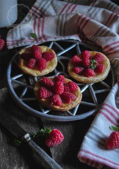 Tartaletas de frambuesa y crema