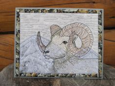 Dall sheep quilted card