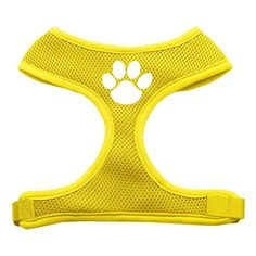 Mirage Pet Products Paw Design Soft Mesh Dog Harnesses, X-Large, Yellow >>> Learn more by visiting the image link.