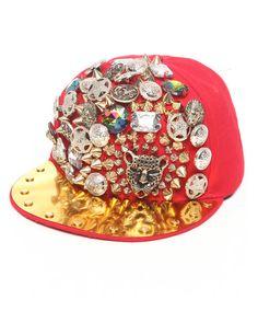 #gorra #dorada #roja #decorada #nu