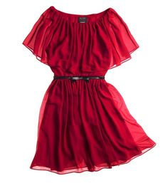Red ruffled dress ($99) from the Giambattista Valli for Macy's collection.