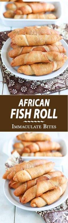 """African Fish Roll -- One of my aunts said casually, """"Well, it is just puff- puff mixture with butter, and sardines"""" - Cameroon : azlitamasammanis Sardine Recipes, Fish Recipes, Seafood Recipes, Snack Recipes, Beignets, Empanadas, Pastry Recipes, Cooking Recipes, West African Food"""