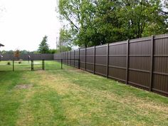 iron and wood privacy fence - Google Search