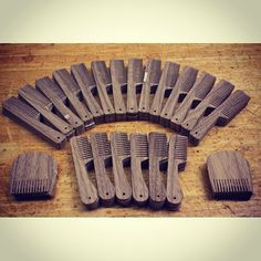 Walnut Combs. Back in stock in a few day. For all those that are waiting and those who desire the dark wood. #bigredbeardcomb #bigredbeardcombs #wood #walnut #beard #beards #beardoil #beardcomb #comb
