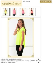 get you glow on this summer with this fun top found at Francesca's Collections