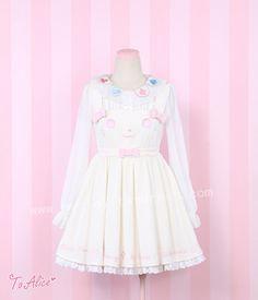 Sweet White Bunny Lolita Jumper Dress