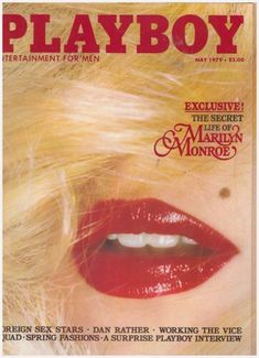 Marilyn impersonator on the front cover of 'Playboy' magazine, May, Article: 'The Secret Life of Marilyn Monroe'. Marilyn Monroe Playboy, Marylin Monroe, Andreas Gursky, Alice Liddell, Cindy Sherman, Charlie Watts, Camille Claudel, Anja Rubik, Playboy Bunny