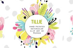 Check out Pastel Watercolor Flowers Clip Art by Pepper on Creative Market
