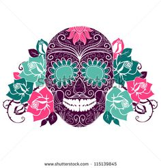 Day of the dead skulls Free vector for free download about (5) Free vector in ai, eps, cdr, svg format .