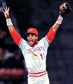 Barry Larkin, my favorite all-time baseball player. Helped the Reds win the 1990 World Series and was the 1995 NL MVP.