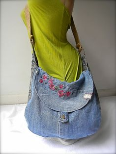 Purse with embroidery jean and grays