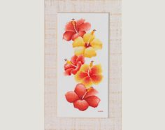 Hibiscus  A counted cross stitch design by HannesNeedlecraft, $8.00 flowers