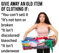 Si no hay nada malo con los artículos que no quieres quedarte, considera regalarlos… | 17 valiosos consejos para cualquiera que tenga demasiada ropa