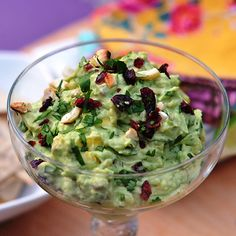 Sweet & Crunchy Guacamole - Clean Eating  I'd add in 1/2-1 jalepano to give this sweet recipe a kick! Already gluten free and low calorie, use crispy, raw veggies for dipping or corn chips, if you can afford a splurge :)