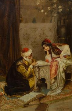 Attributed to Amedeo Simonetti, (Italian, 1874-1922), Writing a Letter - Price Estimate: $800 - $1200