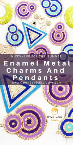 Exclusive Enamel Metal Charms And Pendants - Must-Have For The Bright Summer!   | SAVE it!| www.CzechBeadsExclusive.com #czechbeadsexcluisve #czechbeads