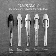 Campagnolo – the difference between the brake lever – Gran Sport, Nuovo Record, Super Record, Victory, Triomphe