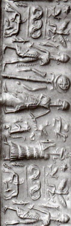 Hittite, cylinder seal on the cover (Tahsin Özgüç) (Erdinç Bakla archive)