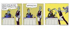 Le serveur au restaurant