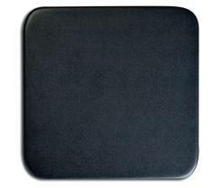 "1000 Series Classic Top-Grain Leather 4"" Square Coaster in Black"
