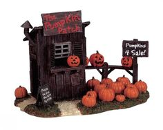 Lemax Spooky Town Halloween The Pumpkin Patch 04521 Retired Table Accent | eBay