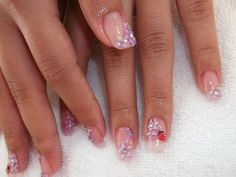 Gel Nail Designs with Glitter | glitter lynth gel with 3d nail design de paris nail spa additional ...
