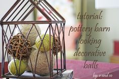 V and Co.: tutorial: pottery barn looking decorative balls