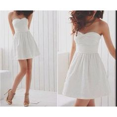 Simple white dress, pretty white dresses, little white dresses, cute Pretty White Dresses, Simple White Dress, Cute White Dress, Little White Dresses, White Sundress, Grad Dresses, Cute Dresses, Dress Outfits, Cute Outfits