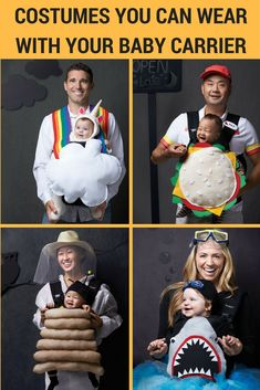 6 fun baby carrier costumes for Halloween 6 Costumes you can wear with your baby carrier. The post 6 fun baby carrier costumes for Halloween & diy appeared first on Halloween costumes . Baby First Halloween Costume, Halloween Bebes, Baby Halloween Costumes For Boys, Baby Girl Halloween Costumes, Diy Baby Costumes, Costume Ideas, Toddler Halloween, Halloween Parties, Family Costumes