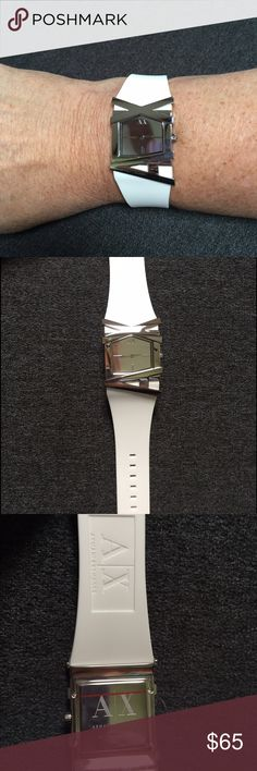 Armani Women's watch with silicone strap New never worn.  No box. Armani Exchange Accessories Watches