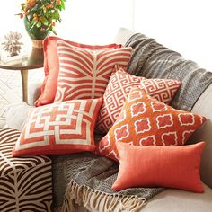 Love the Persimmon color with the comforter and ottoman.